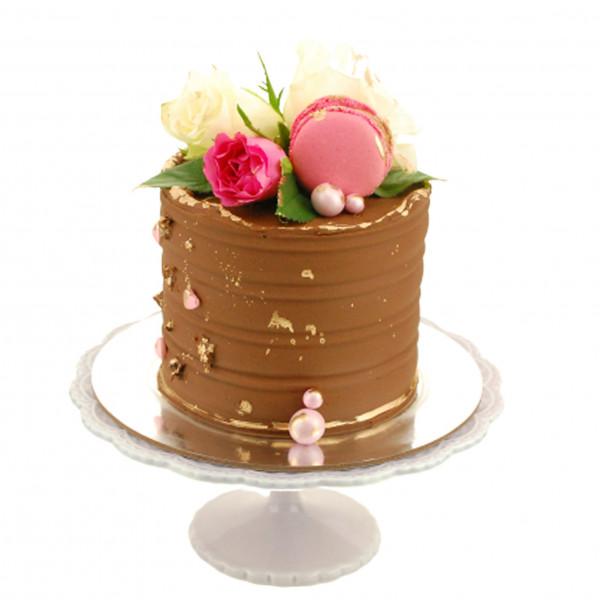 Semi Naked Cake Schoko Rose Macaron