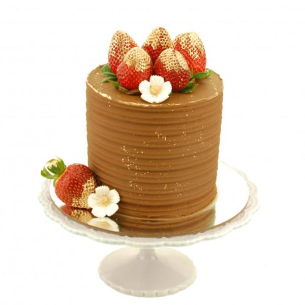 Semi Naked Cake Erdbeere Gold