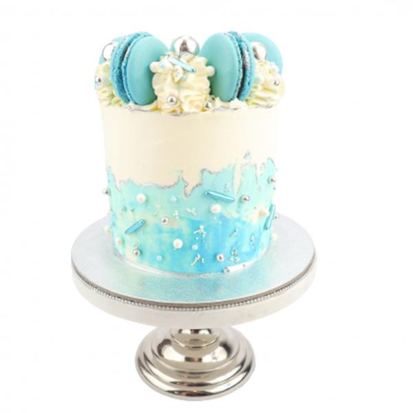 Semi Naked Cake blau