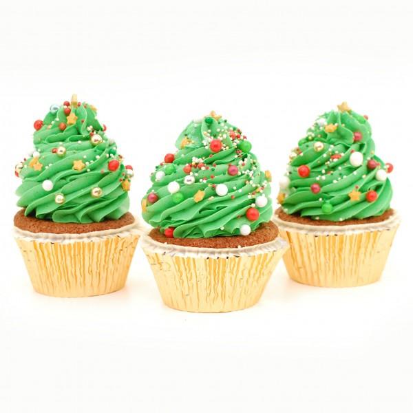 Weihnachtscupcakes Bäumchen